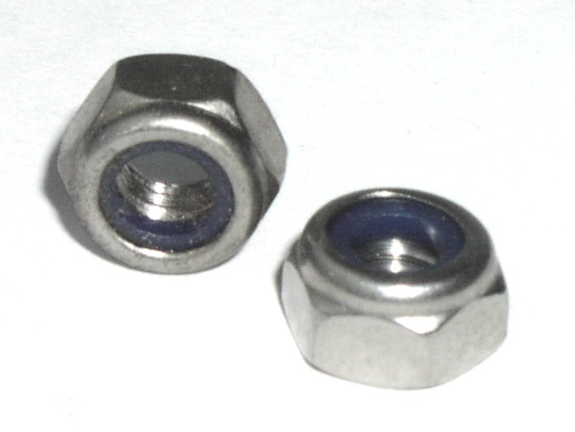 M6 Metric 6mm diameter  Nyloc nut