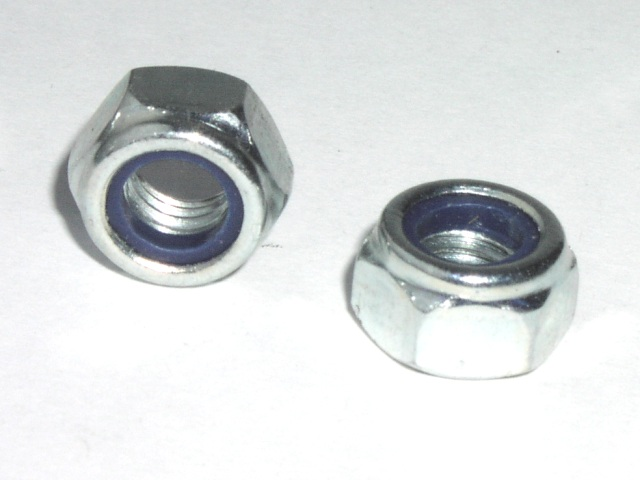 M8 Metric 8mm diameter  Nyloc nut