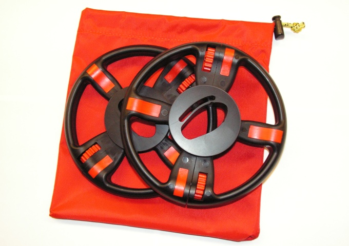 Pair split wheel for aluminum airfoil speedbar + bag