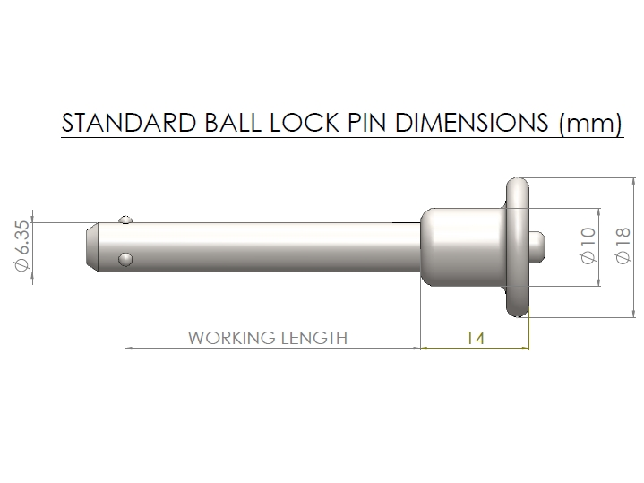 ball lock pin pip pins